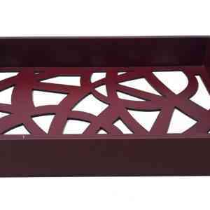 RECT LASER BROWN TRAY